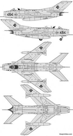 mikoyan gurevich mig 19s farmer model airplane plan
