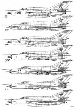 mikoyan gurevich mig 21 14 model airplane plan
