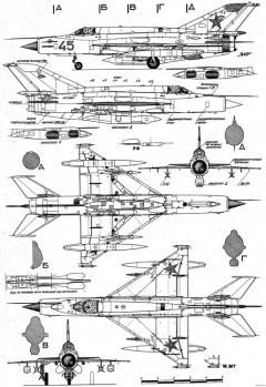 mikoyan gurevich mig 21 18 model airplane plan