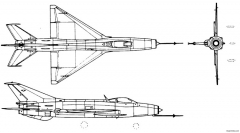 mikoyan gurevich mig 21 fishbed model airplane plan