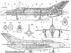 mikoyan gurevich mig 21f 13 2 model airplane plan