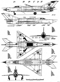 mikoyan gurevich mig 21pd 2 model airplane plan