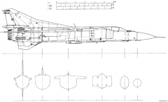 mikoyan gurevich mig 23mf 5 model airplane plan