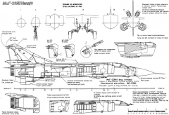 mikoyan gurevich mig 23ml mld p 2 model airplane plan