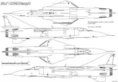 mikoyan gurevich mig 23ml mld p 6 model airplane plan
