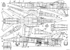 mikoyan gurevich mig 23ml mld p 7 model airplane plan