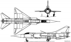 mikoyan gurevich mig 23pd 1967 russia model airplane plan