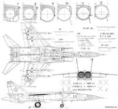 mikoyan gurevich mig 25p 2 model airplane plan