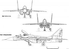 mikoyan gurevich mig 29 11 model airplane plan