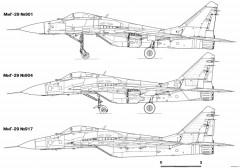 mikoyan gurevich mig 29 13 model airplane plan