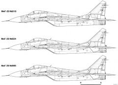 mikoyan gurevich mig 29 16 model airplane plan