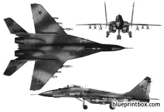 mikoyan gurevich mig 29 fulcrum a model airplane plan