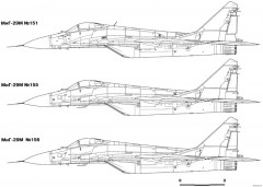 mikoyan gurevich mig 29m model airplane plan