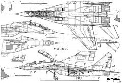 mikoyan gurevich mig 29ub 3 model airplane plan