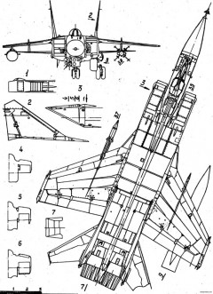 mikoyan gurevich mig 31 model airplane plan