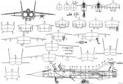 mikoyan gurevich mig 31 6 model airplane plan