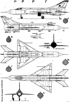 mikoyan gurevich ye 150 4 model airplane plan