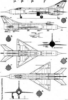 mikoyan gurevich ye 150 4 model airplane plan