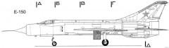 mikoyan gurevich ye 150 5 model airplane plan