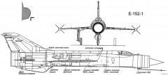 mikoyan gurevich ye 152 model airplane plan