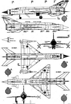 mikoyan gurevich ye 152 16 model airplane plan