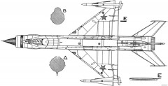 mikoyan gurevich ye 152 2 model airplane plan