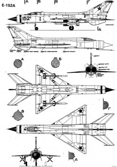 mikoyan gurevich ye 152 8 model airplane plan