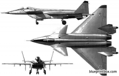 mikoyan mig 144 model airplane plan