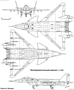 mikoyan mig 144 2 model airplane plan