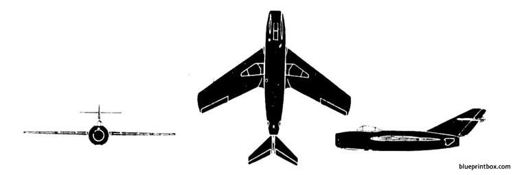 mikoyan mig 15 falcon model airplane plan