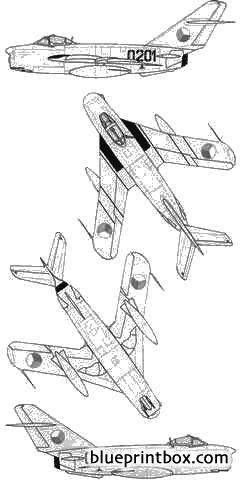 mikoyan mig 17pf model airplane plan