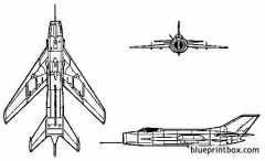 mikoyan mig 19 farmer model airplane plan