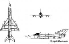 mikoyan mig 21 fishbed model airplane plan