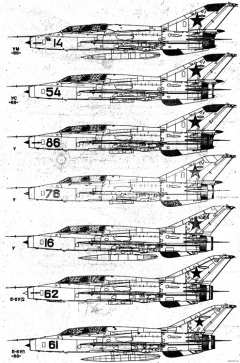 mikoyan mig 21oom 2 model airplane plan