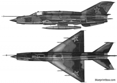 mikoyan mig 21smt model airplane plan