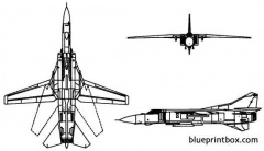 mikoyan mig 23 flogger model airplane plan