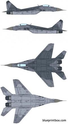 mikoyan mig 29 fulcrum model airplane plan