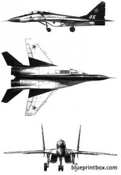 mikoyan mig 29 fulcrum 1 model airplane plan