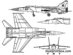 mikoyan mig 31 model airplane plan