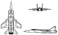 mikoyan mig 31 foxhound model airplane plan