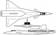 mikoyan mig typ 701 model airplane plan