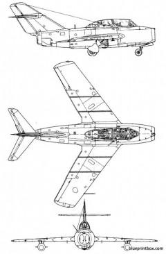 mikoyangourevitch mig 15 uti model airplane plan