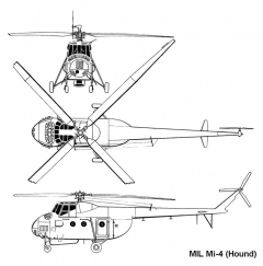 mil mi4 3v model airplane plan
