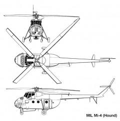 mil mi4 3v model airplane plan