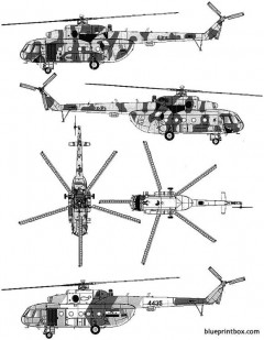 mil mi 17 hip h 02 model airplane plan