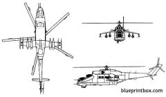 mil mi 24 hind model airplane plan