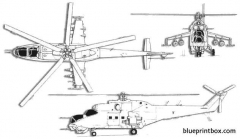 mil mi 24 hind 2 model airplane plan