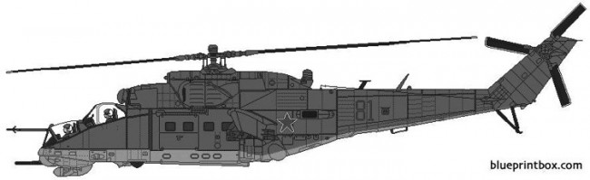 mil mi 24 hind d 2 model airplane plan
