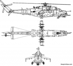 mil mi 24b hind 2 model airplane plan
