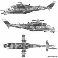 mil mi 24v 35 hind e model airplane plan